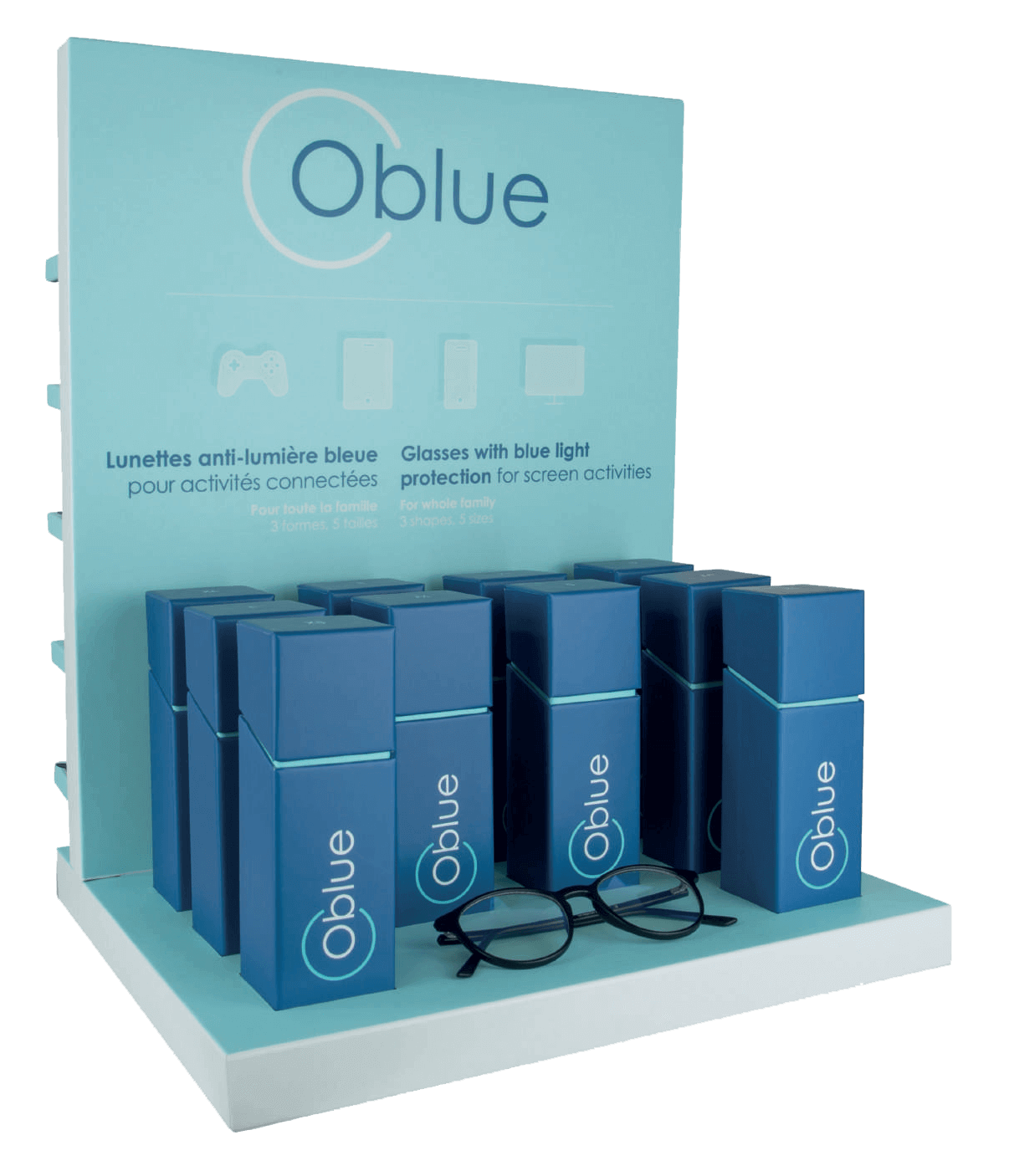 Espositore Oblue